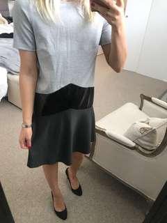 Patent Leather Panelled dress XS