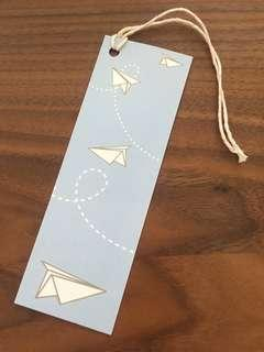 Paper plane design Gift tag - set of 4