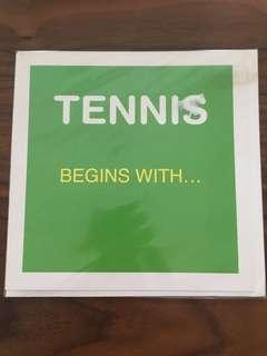 Tennis begins with ... love! card