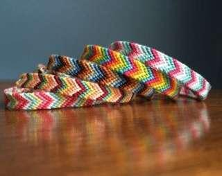 Chevron friendship bracelets (bisa request warna)