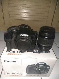 Kamera Canon EOS 500D Full Kit + Box + Free Bag, Barang Bekas