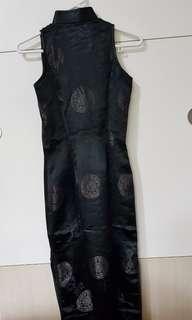Black Cheongsam Sleeveless (long)