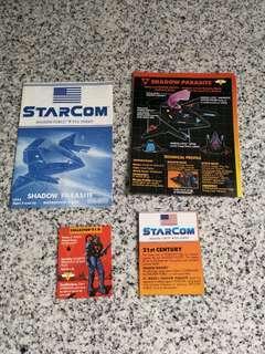 Vintage Starcom Shadow Parasite manual and cardboard cutouts