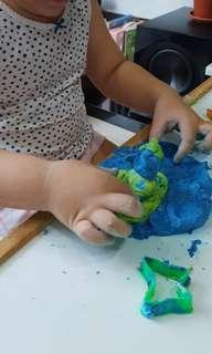 Sensory play starting from 2 years old