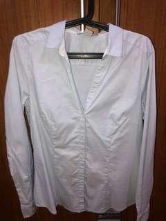 H&M Blue Button Down Long Sleeves