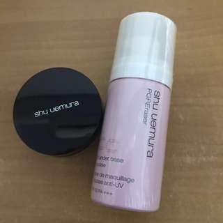 植村秀 UV泡沫CC慕斯+鑽石光蜜粉