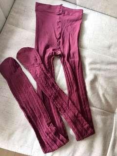 Wine colour Leggings