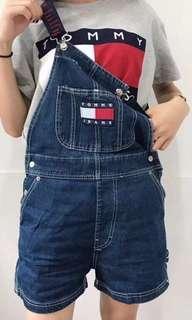 Tommy 牛仔吊帶褲 短褲 日本帶回