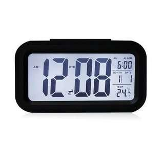 LED Smart Alarm Clock-Black/White/Lime Green/Blue/Pink