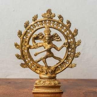 """Shiva icon (6"""" height) handmade, bought in Rishikesh, India"""