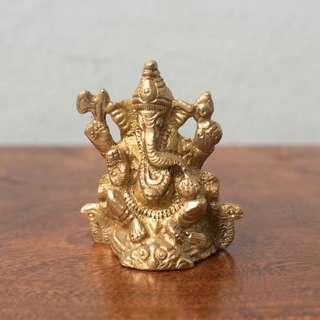 """Ganesh icon (2"""" height) handmade, bought in Rishikesh, India"""