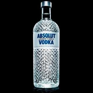 Absolut Glimmer Limited Edition Bottle 水晶紀念限量版 700mL produced in sweden