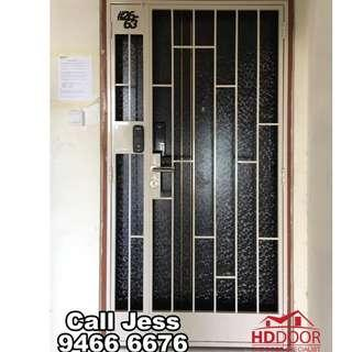 HDDoor the Laminate main door and Gate with two digital lock install