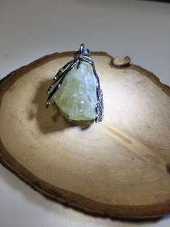 黄水晶原石吊坠