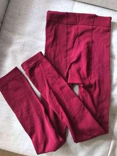 Winter Wine colour Leggings