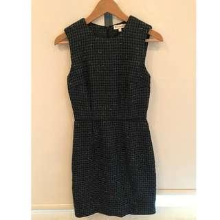 Warehouse Navy Blue Dress