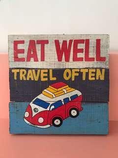 Frame Eat well, travel Often