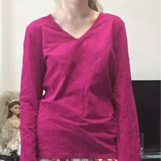 Purple Long Sleeve Top