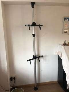 Bicycle rack pole