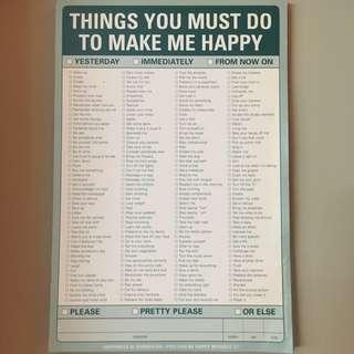 Things You Must Do Pad