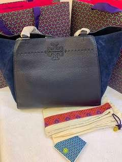 3930efc4e649 (CNY Sales) Authentic Tory Burch ready stock McGraw Mixed material carryall  shopping totes