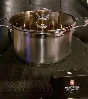 🚚 全新【瑞士MONCROSS】304不鏽鋼琥珀湯鍋組24cm