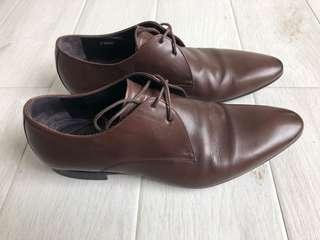 Paul Smith Brown Leather Derby Shoes