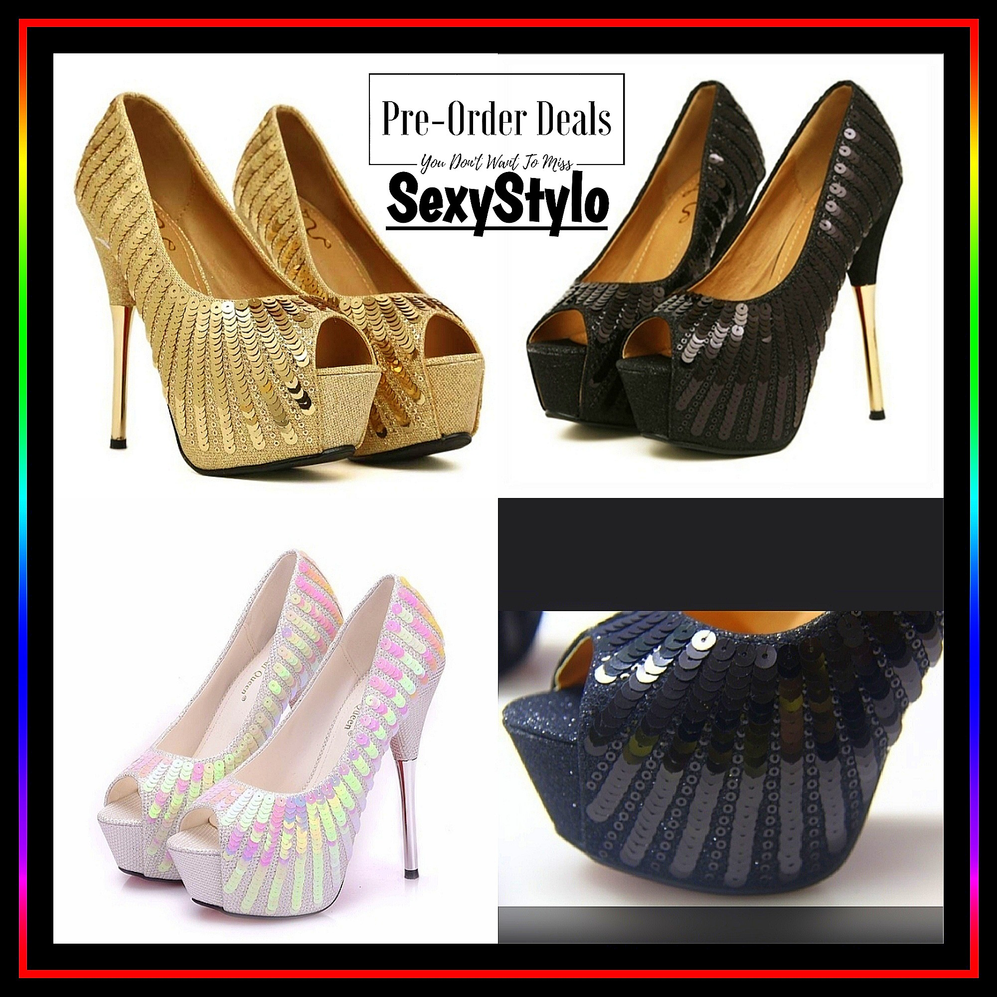 0cae4a4401e 116👠▫📦▫ 🅿re🅾rder ▫📦▫👠Gold pumps heels shoes for women ...