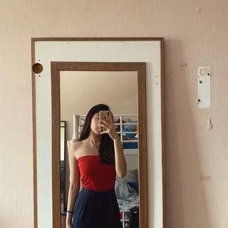 Red tube top #CNYRED