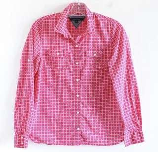 Tommy Hilfiger pink print M medium shirt