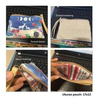 Pouch Printed - Tas Tangan Mini Motif Rusa
