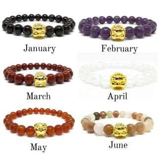 Year of the Pig Birthstone Bracelets