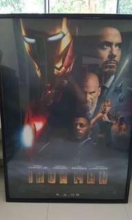 Ironman poster (u.s original with frame)