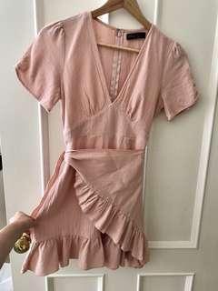 Pale Pink Wrap Dress