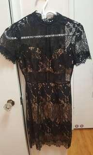 Size small forever 21 lace black dress