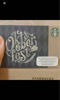Oktoberfest Starbucks Card