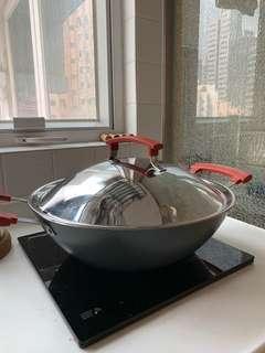IKEA 3L pot with glass lid 不銹鋼煲/ non-stick wok 鑊