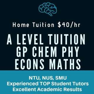 JC Tuition | JC Tutor | A Level Home Tuition | JC1 JC2 H1 H2 Physics Chemistry Econs Economics General Paper GP Math Maths Mathematics Chinese English Literature Accounts| Junior College Private Tuition Teacher | Study Guide Notes