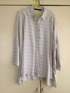 Patterned Zara blouse