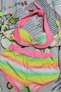 #CNY888 Colorful Rainbow Bikini