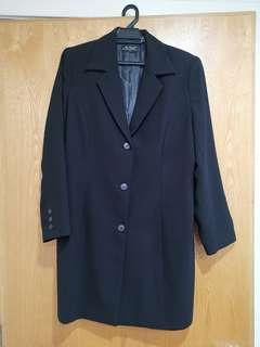 Ms Read Black Blazer Coat