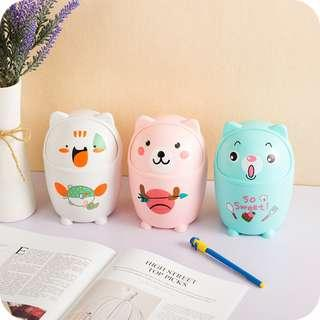 Creative Cartoon Mini Desk Trash Bin (LW136)