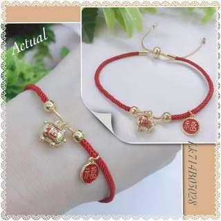 Wealthy pig bracelet