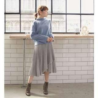 Circle's Cinema Light Grey Pleated Skirt