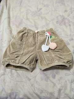 (D)✨優惠✨卡其色細絨短褲