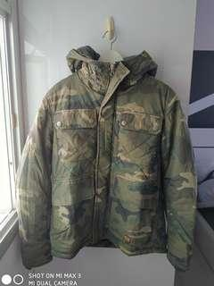 Camo print Winter jacket. Able Jeans.