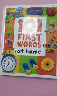 101 first words at home - almost A4 size