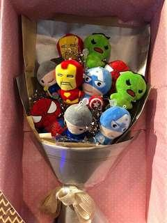 Marvel superhero valentine's day flower bouquet