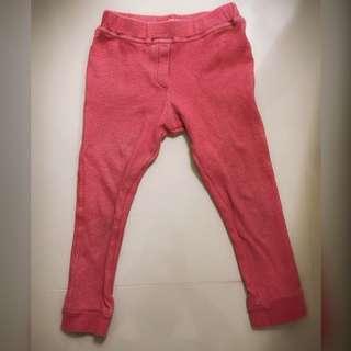 WHY AND 1/2 紅色緊身內搭褲100cm