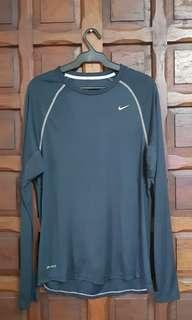 Nike Navy Blue Long Sleeved Dri-fit Shirt